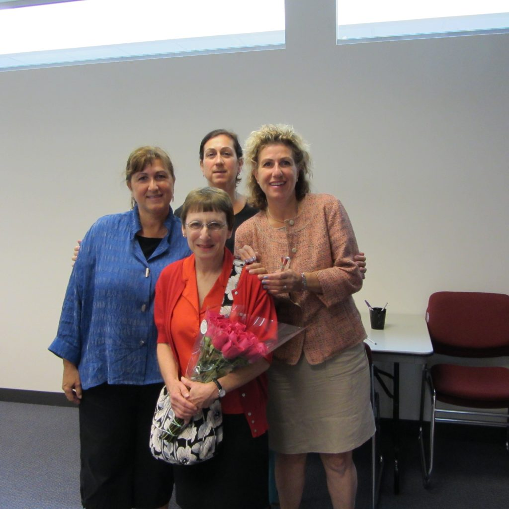 Metropolitan Home health services, Inc. staff that attended the ceremony included: (Front) Myrna Yaffee. (Back ,left) Yvonne Arpiarian, RN, BSN Director, Sonya Arpiarian, RN Administrator, and Roslyn Arpiarian, Outreach Coordinator.