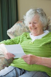 Writing letters to the elderly