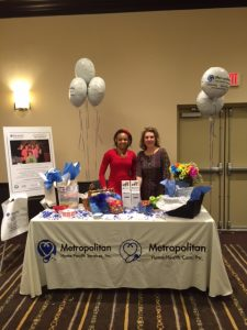 Staffing Coordinator, Martha Estriplet and Outreach Coordinator, Roslyn Arpiarian at ElderFair 2015